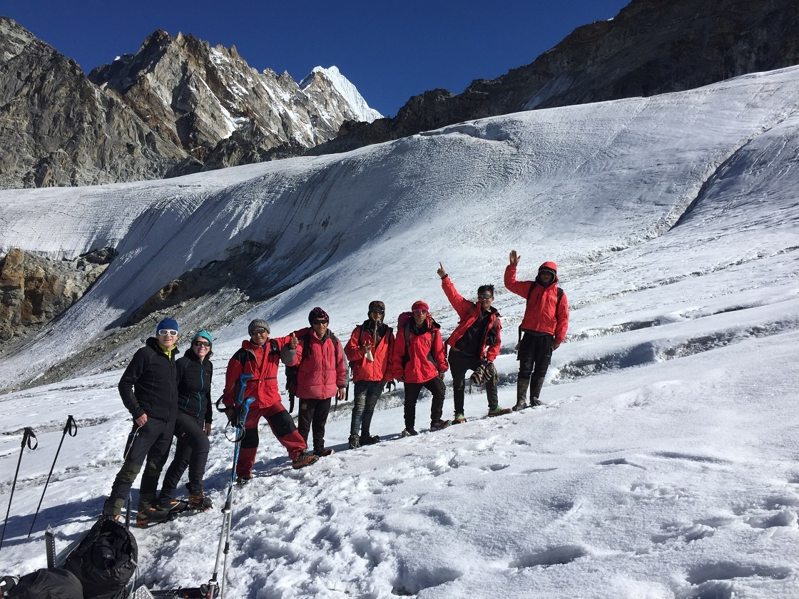 Climbers During Mera Peak Climbing